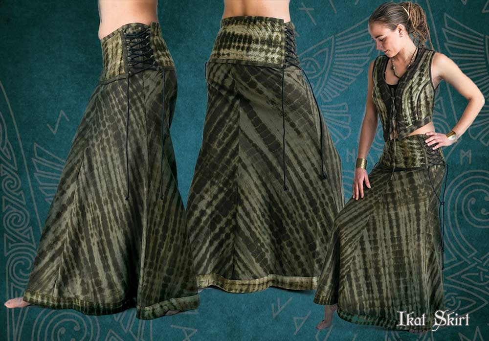 skirt long ikat tbk bias cut